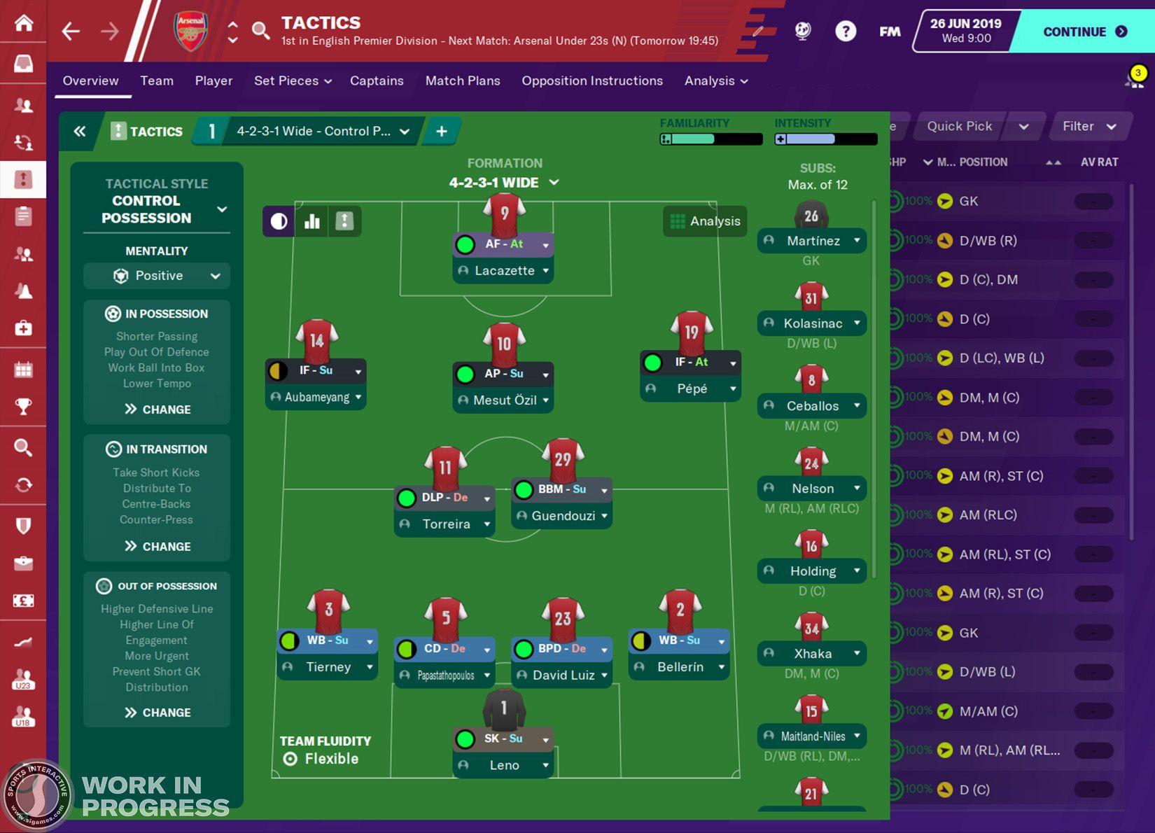Screenshot di Football Manager 2020